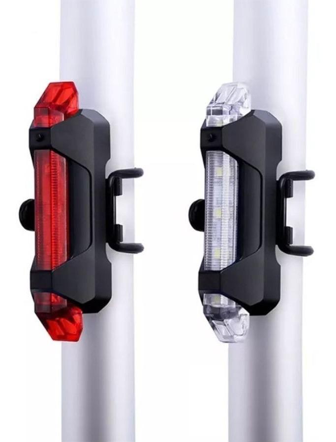 1edfe16be kit 2 luz lanterna e farol bike bicicleta recarregavel led. Carregando zoom.