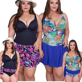 7c8c1d07d Maio Plus Size Com Canga Mulher - Moda Praia com o Melhores Preços no Mercado  Livre Brasil