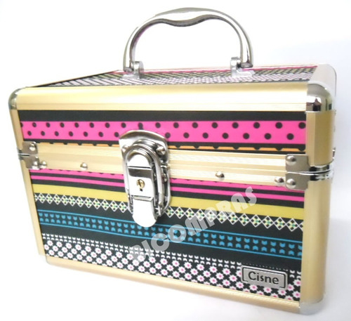kit 2 maleta maquiagem grande profissional organizador rubys