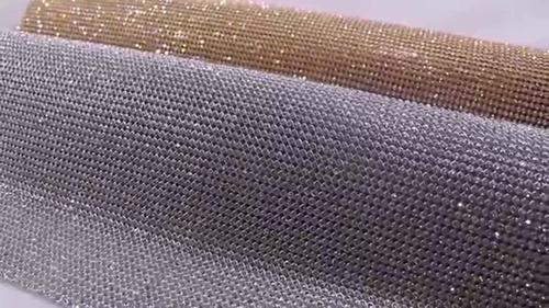 kit 2 manta de strass original prata e dourada 10x45