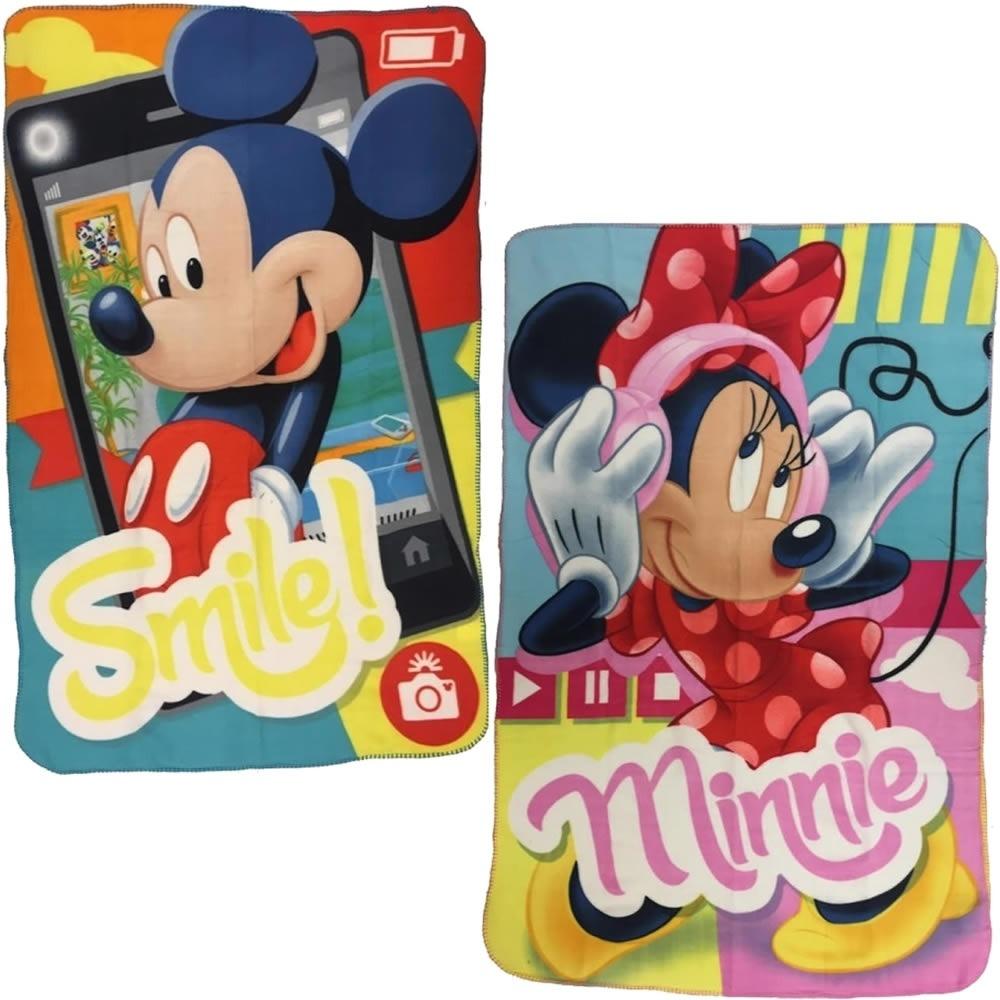 faa77028d Kit 2 Manta Dtc Mickey Minnie 100x150 Felpuda Macia Cobertor - R  88 ...