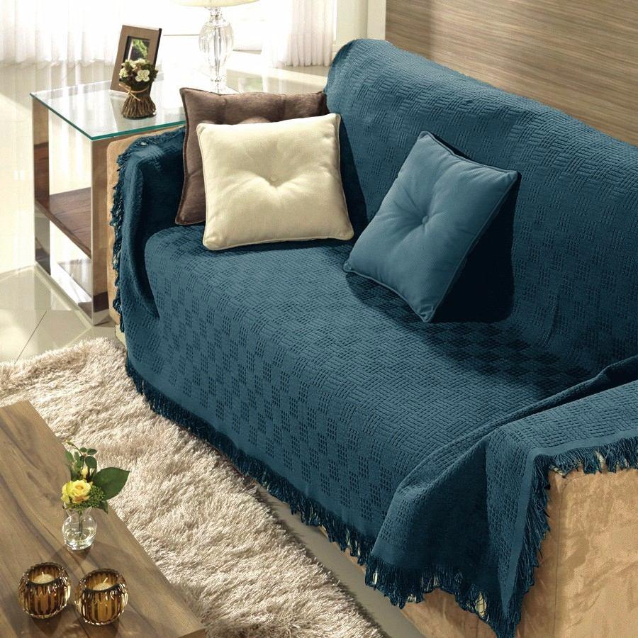 Kit 2 manta p sof dohler 1 grande e 1 pequena azul r - Manta para sofa ...