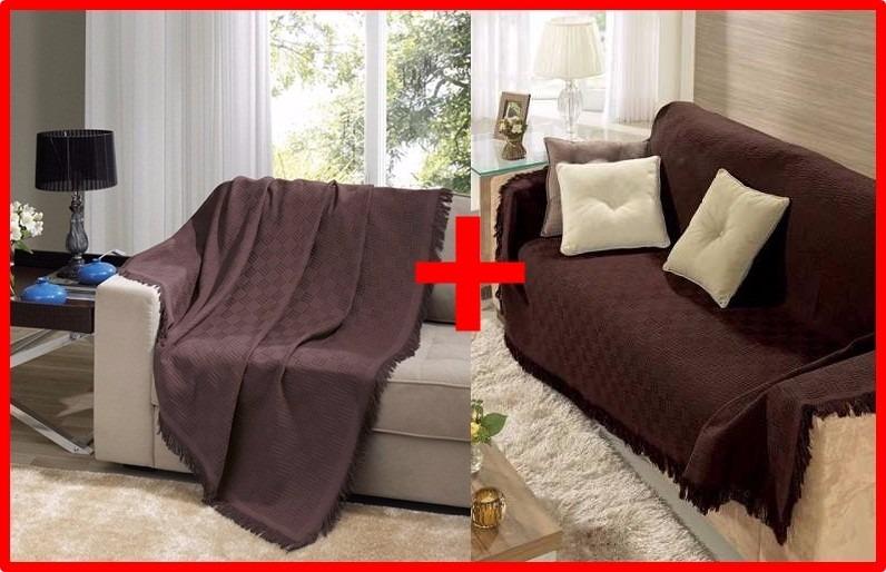 Kit 2 mantas para sof dohler london grande e pequena for Mantas para sofas