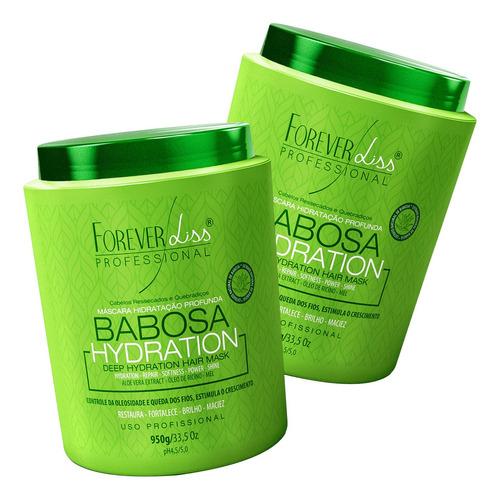 kit 2 mascara de babosa 950g forever liss restaura maciez