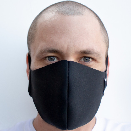 kit 2 mascara reutilizável tecido lavável de dupla camada
