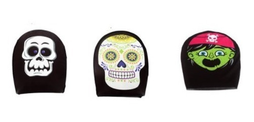 kit 2 máscaras caveira pirata mexicana halloween carnaval