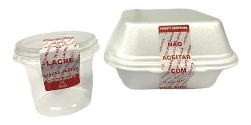 kit 2 mil etiquetas adesivas lacre para delivery ifood rappi