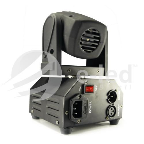 kit 2 mini beam moving head led 12w cree rgbw + mesa dmx