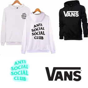 be7c7eae04 Kit 2 Moletom Blusa Frio Anti Social Club+vans Agasalho