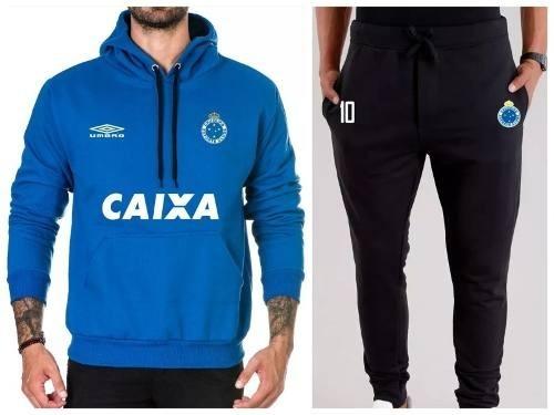 Kit 2 Moletom Masculino Blusa De Frio Cruzeiro + Calça - R  139 674b9413f8b51