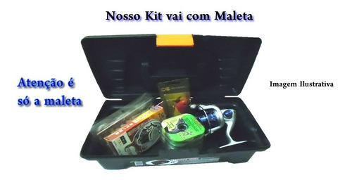 kit 2 molinetes +2 varas+ acessórios+maleta - promoção