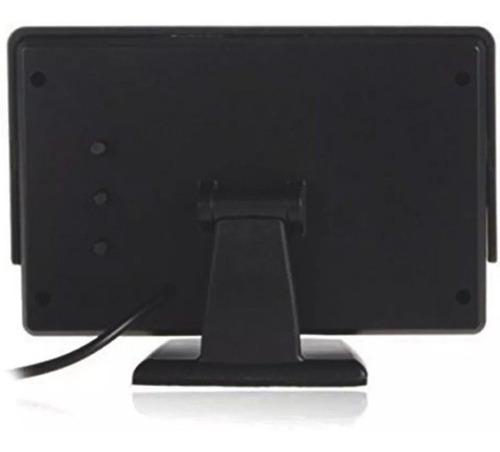 kit 2 monitor lcd 4.3 automotivo colorido camera de ré fixa