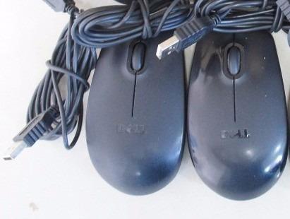 kit 2  mouses usb dell original  preto usado
