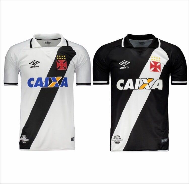 Kit 2 Novas Camisas Vasco Da Gama Masculino Pronta Entrega - R  154 ... 9c3da1ea84a91