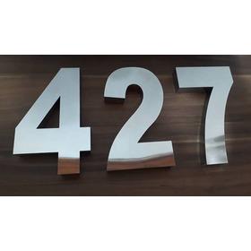 Kit 2 Números Residencial Aço Inox Brilhante 20 Cm Promoção