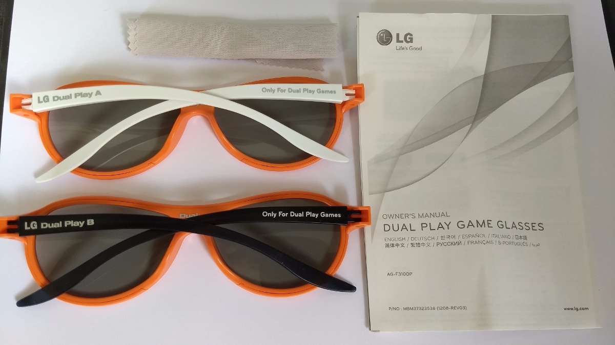 Kit 2 Óculos 3d Lg Tv Dual Play Games Original - R  87,00 em Mercado ... 2dcae039f0