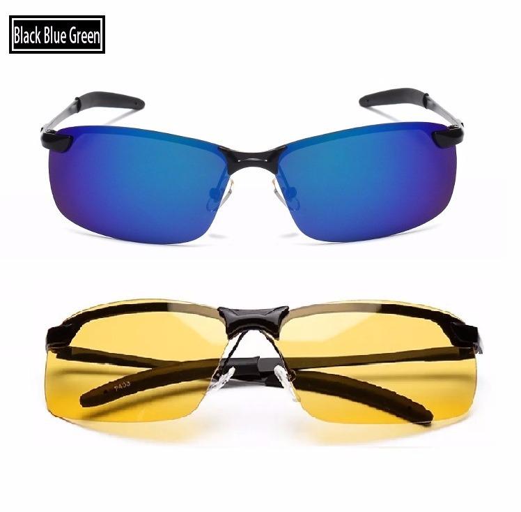 b25acac941566 Kit 2 Óculos De Sol Azul E Amarelo Dirigir Noite Polarizado - R  189 ...