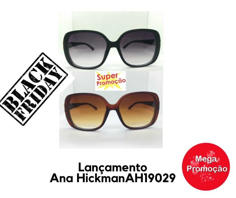 1d956c6387e72 Kit 2 Oculos De Sol Grau Ana Hickman Original Barato - R  159,90 em ...