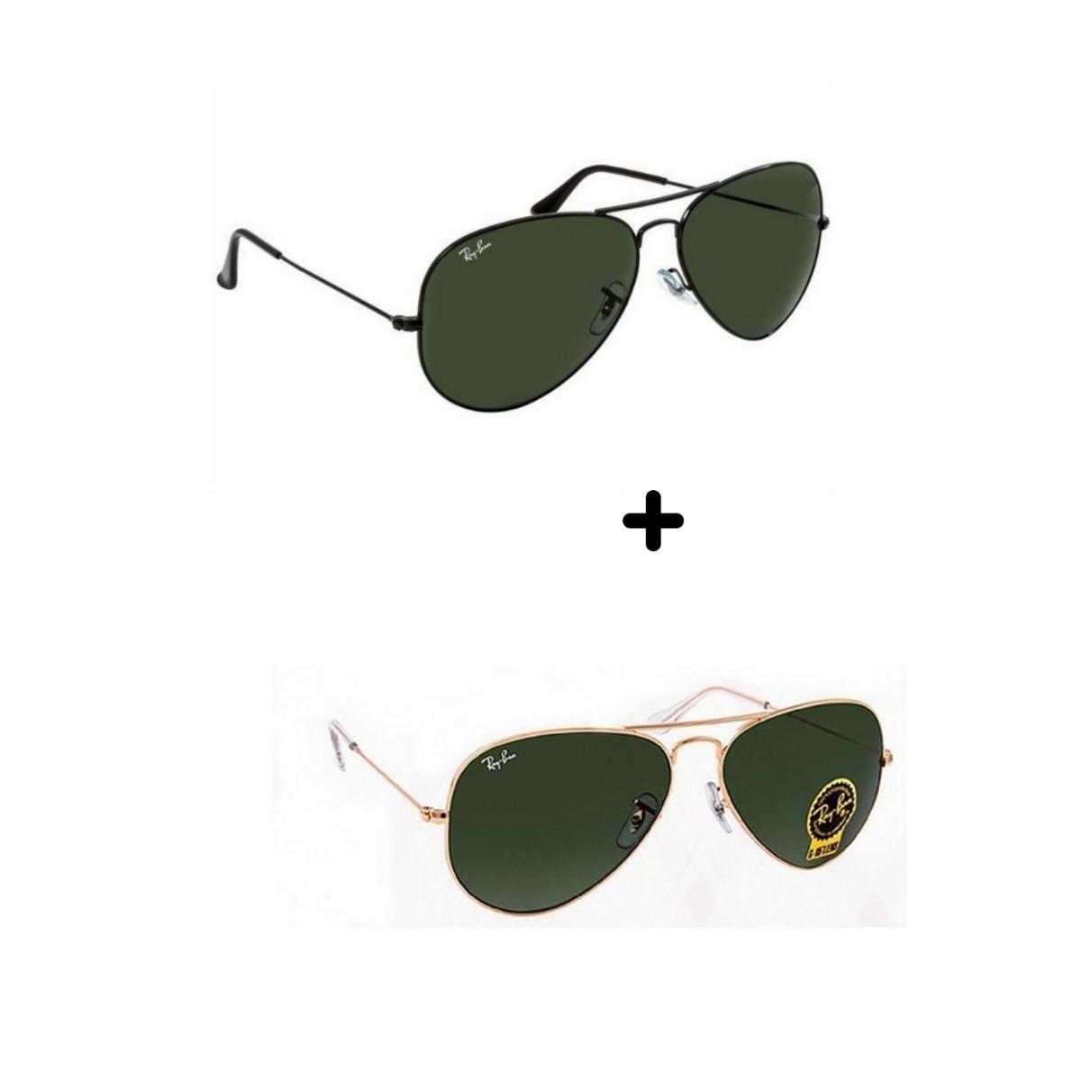 5593b914fe616 kit 2 óculos de sol masculino feminino aviador promoção 3025. Carregando  zoom.
