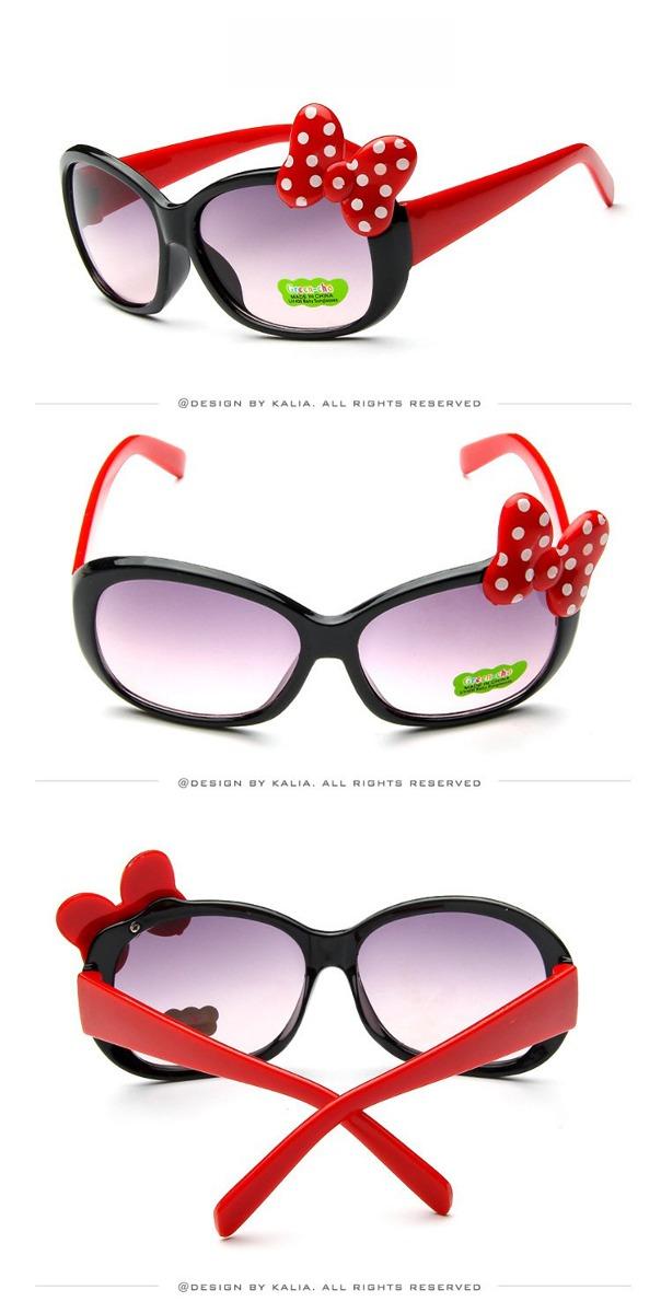 Kit 2 Oculos De Sol Menina Infantil Laço Minie Proteção Uvab - R ... 2483c33d91