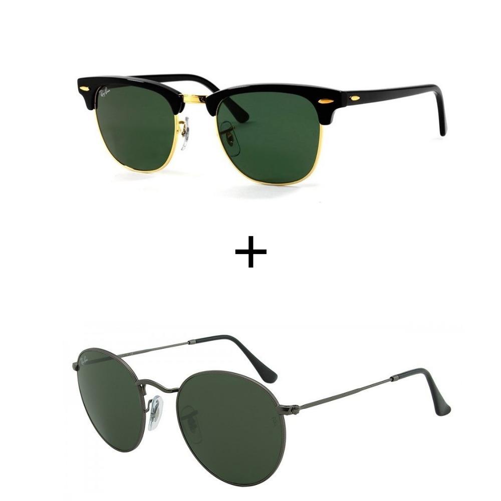 c41640ef9 kit 2 oculos de sol ray-ban feminino masculino envio em 24h. Carregando zoom .