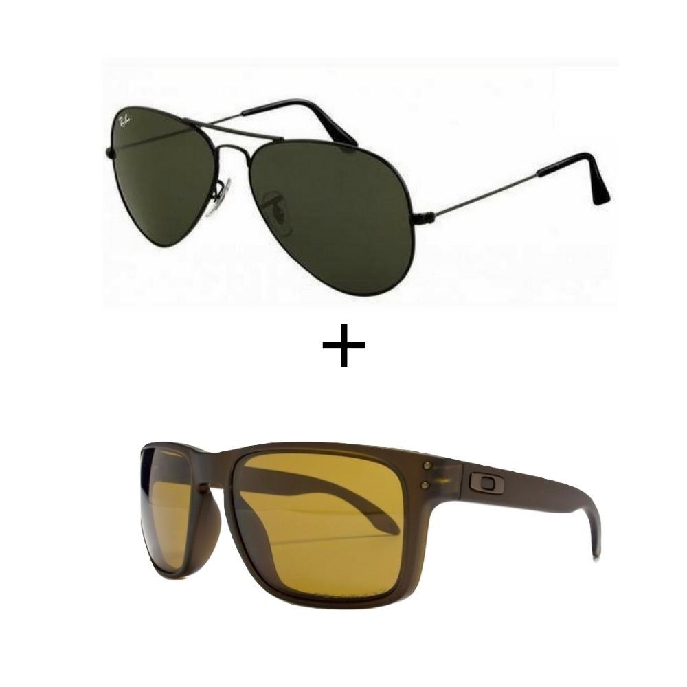 89d1208f89faf Kit 2 Oculos Ray Ban Aviador Masculino Feminino Verao - R  299,99 em ...