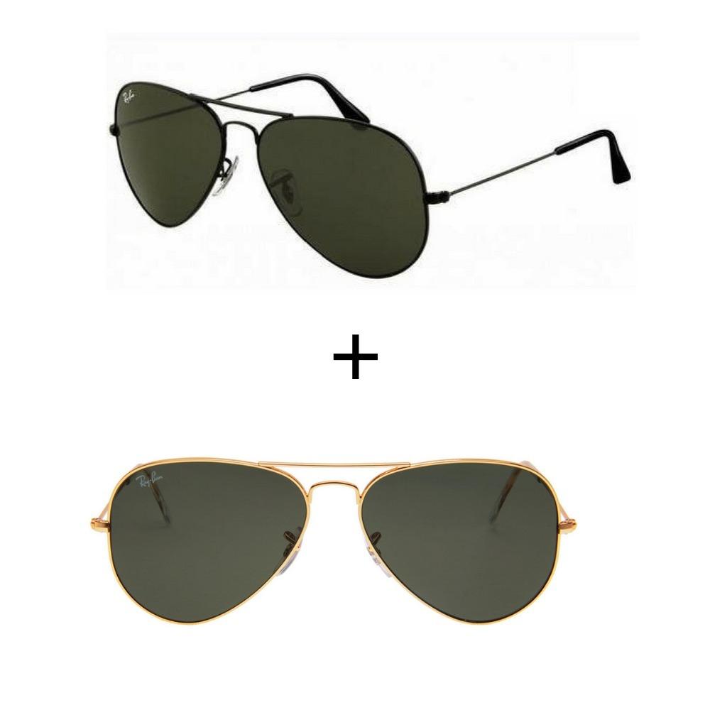 06c1c245d Kit 2 Oculos Rayban Aviador Rb3026 Escolha O Seu - R$ 237,49 em ...