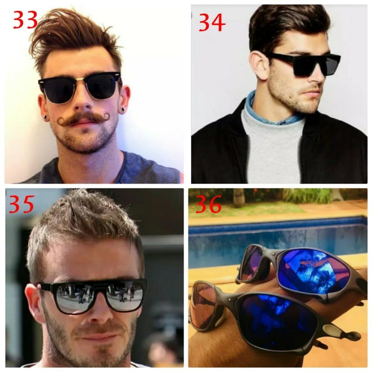 31a743a9f2aa5 kit 2 óculos redondo espelhado azul lente colorida quadrado. Carregando  zoom.