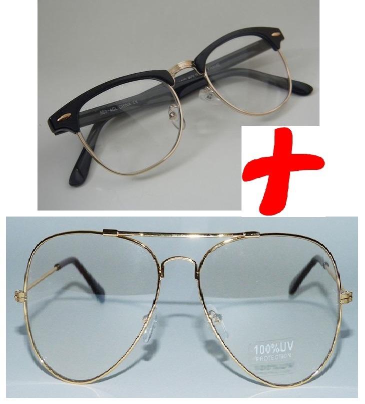 444f4f2fae8c2 kit 2 óculos transparente sem grau dia noite falso feminino. Carregando  zoom.