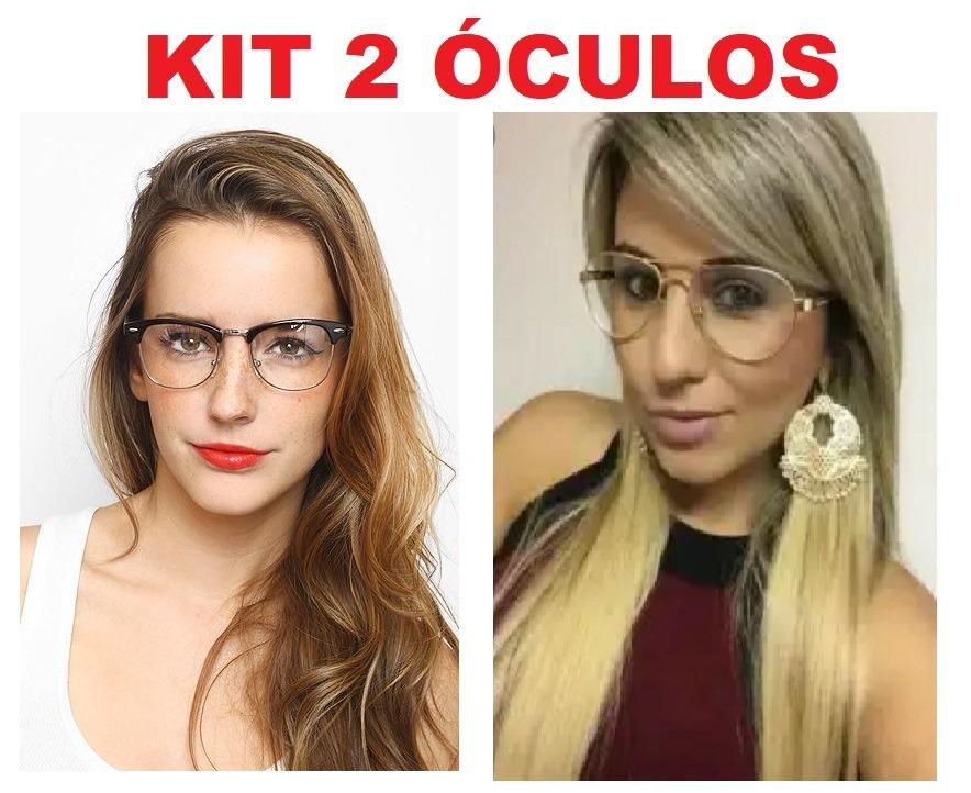 kit 2 óculos transparente sem grau dia noite falso feminino. Carregando  zoom. cff87a4dbc