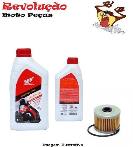 kit 2 óleo 10w30 genuíno honda e filtro xre300 / twister2016