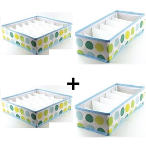 kit 2 organizador calcinhas cuecas para gavetas + 2 de sutia
