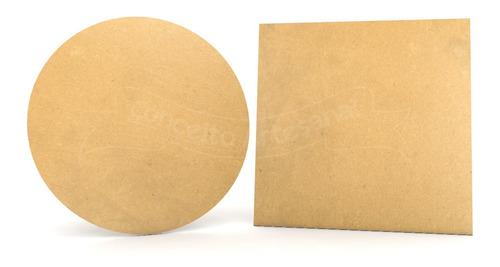 kit 2 painéis quadrado e redondo de mesa desmontável 50cm md