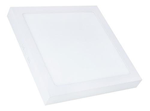 kit 2 painel plafon led 25w quadrado sobrepor branco frio