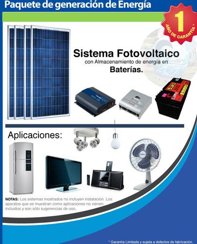 kit 2 panel solar fotovoltaico/ planta electrica solar hgm