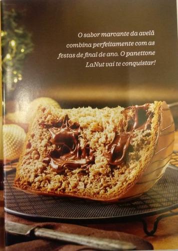 kit 2 panettones premium lanut avelã cacau show  chocotone