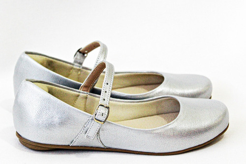 kit 2 pares de sapatilha infantil lisa princesa 404189