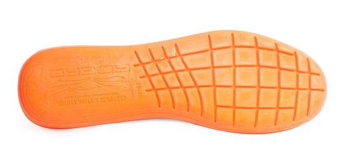 kit 2 pares palmilha conforto gel laranja anatômica acero