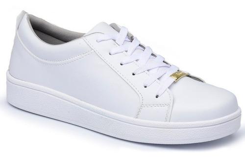 kit 2 pares sapatenis feminino branco casual frete gratis