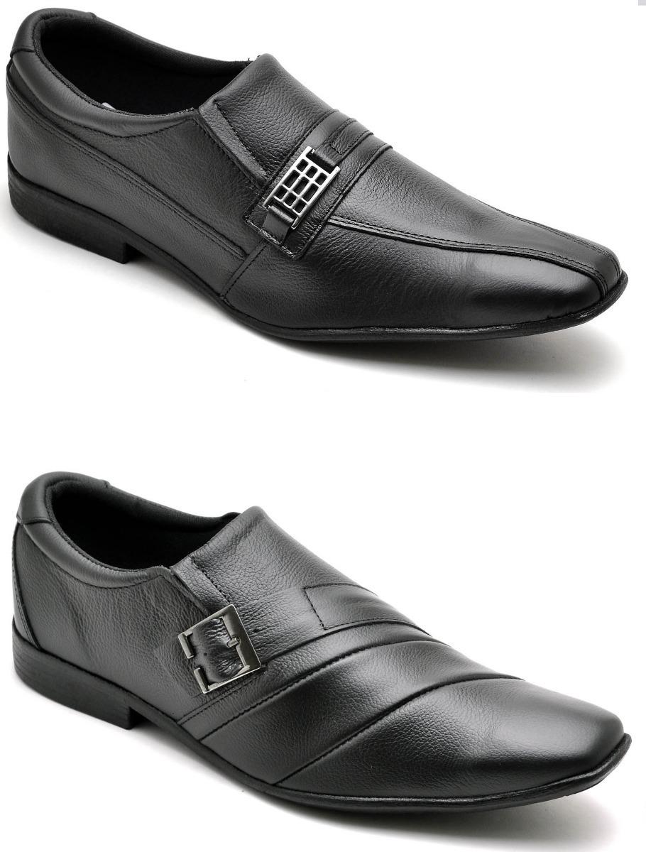 33b70f31c4 kit 2 pares sapato masculino social couro legitimo promoção. Carregando  zoom.