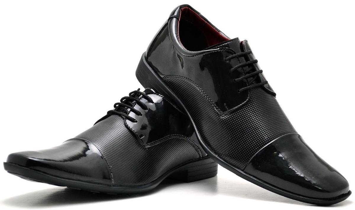 c393bb9f9 kit 2 pares sapato social masculino verniz estilo moderno. Carregando zoom.