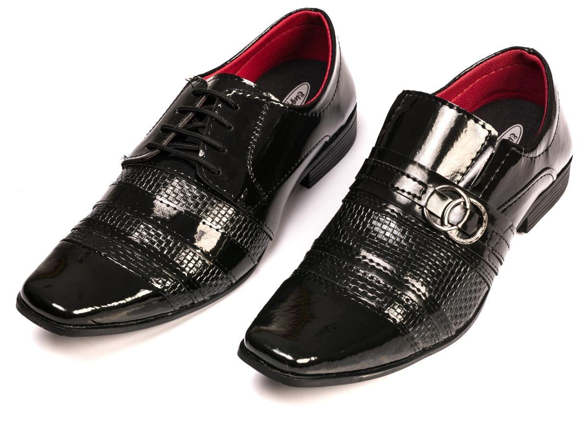 23689084ad kit 2 pares sapato social verniz masculino lançamento outlet. Carregando  zoom.