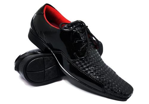 kit 2 pares sapato verniz + 2 pares sapatenis masculino