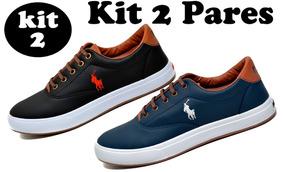 952b7066397 Kit 2 Pares - Tenis Masculino Sapato Sapatenis Polo Wey