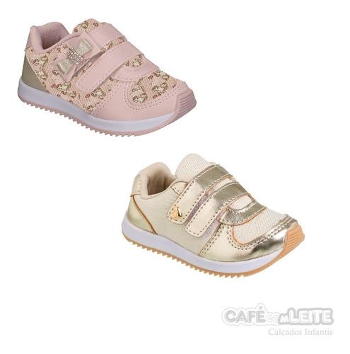 kit 2 pares tênis infantil menina 010