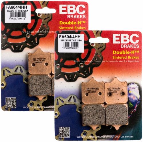 kit 2 pastilhas freio ebc sint diant bmw s1000rr fa604/4hh