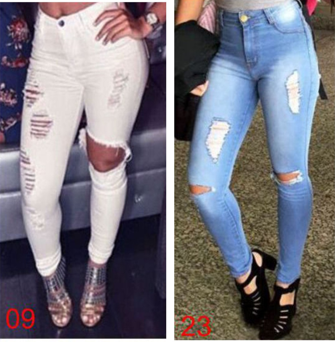 eb4a36087d9b ... calça jeans feminina lycra cintura alta roupa dins. Carregando zoom.