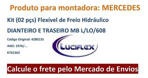 kit 2 pçs flexivel de freio dianteiro mercedes  l / lo 608