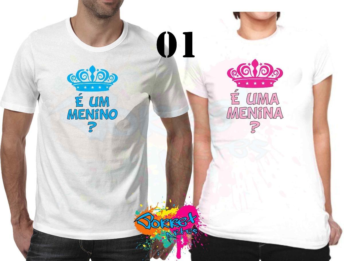 Kit 2 Peças Camisa Personalizada Chá De Revelação R  39 f52160f2bac13