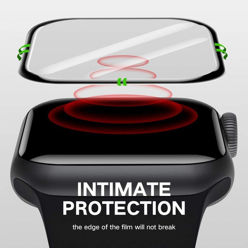 kit 2 peliculas vidro apple watch 10d instalação facil 38mm